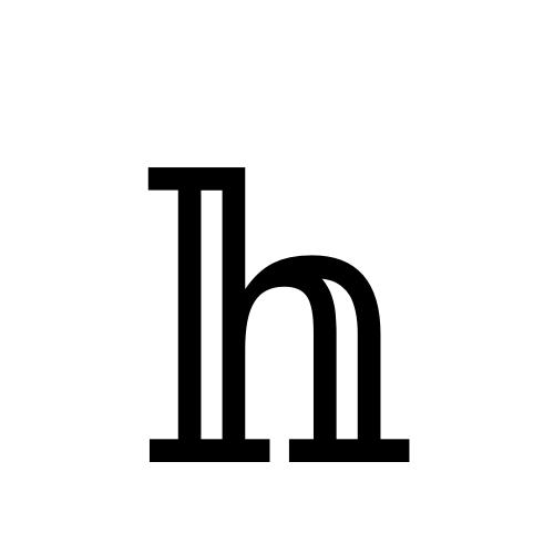 DejaVu Serif, Book - 𝕙