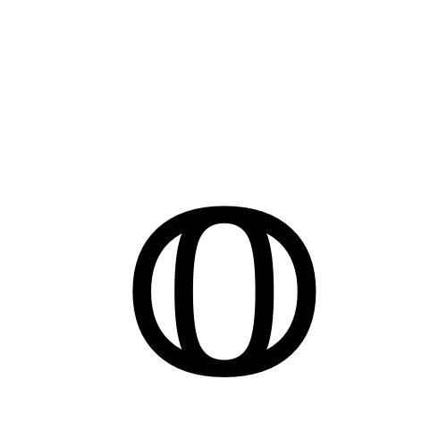 DejaVu Serif, Book - 𝕠