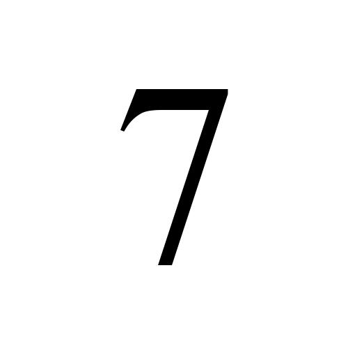 Times New Roman, Regular - 7