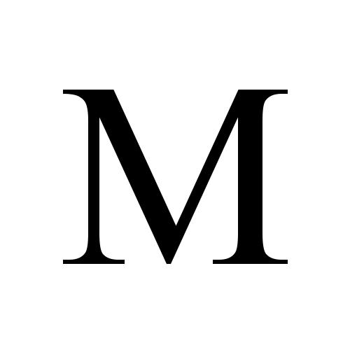Capital Letter M Meta
