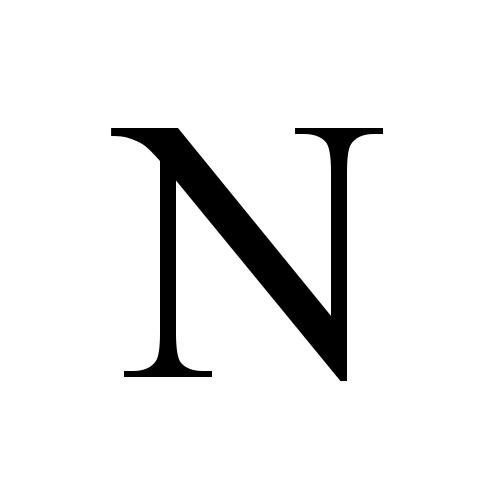 N   latin capital letter n   Times New Roman, Regular ...