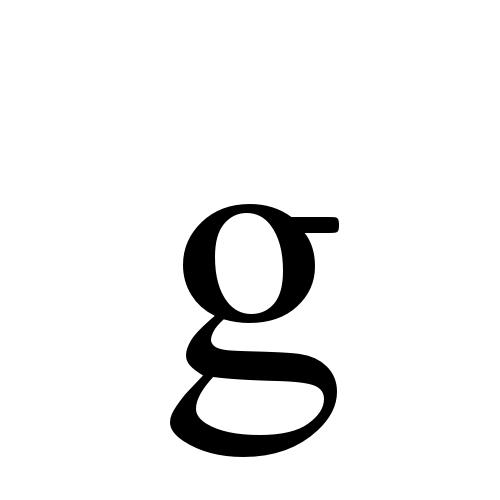 Times New Roman, Regular - g