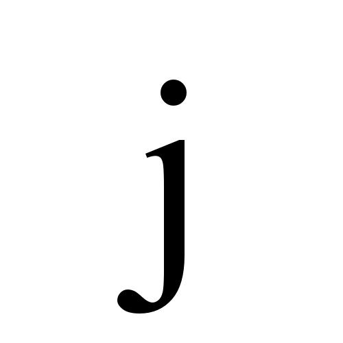 Times New Roman, Regular - j