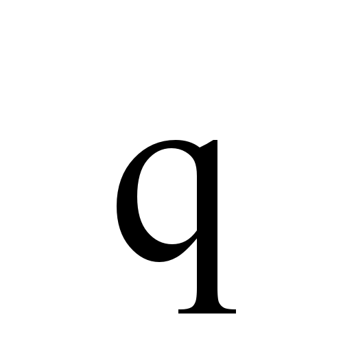 Times New Roman, Regular - q