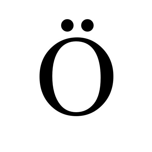 Ö glyphs times new roman regular