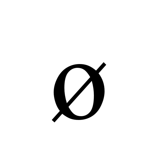 ø | latin small letter o with stroke | Times New Roman, Regular ...