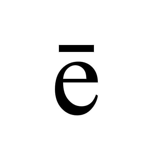 ē latin small letter e with macron times new roman regular