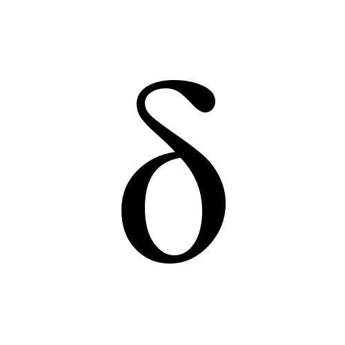 δ | greek small letter delta | Times New Roman, Regular @ Graphemica: graphemica.com/δ/glyphs/times-new-roman-regular