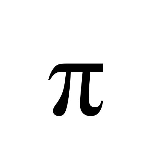 Times New Roman, Regular - π