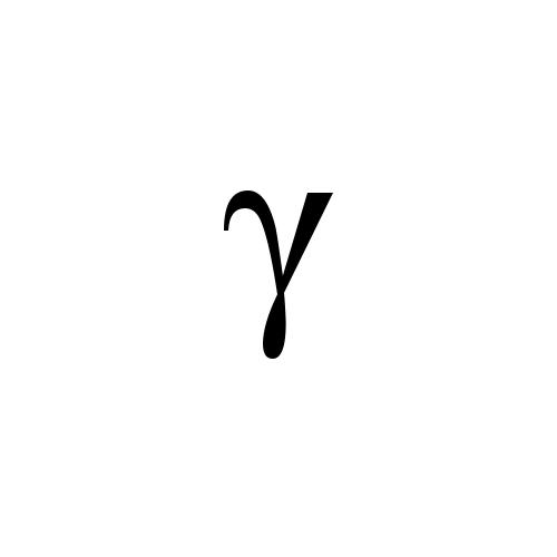 Modifier Letter Small Greek Gamma Times New Roman Regular