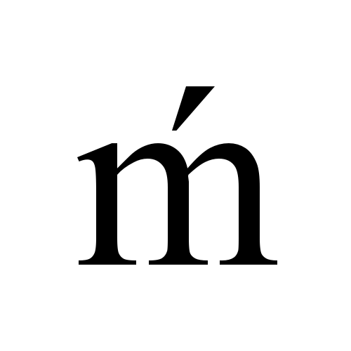 Times New Roman, Regular - ḿ