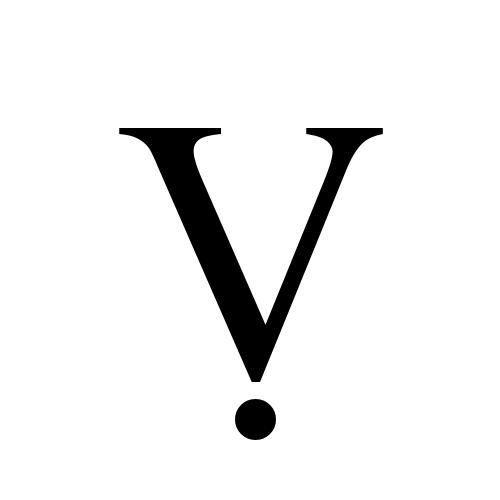 Latin Capital Letter V With Dot Below Times New Roman Regular
