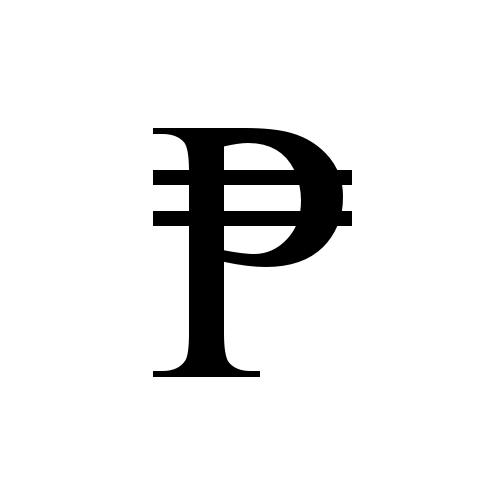 Peso sign vector