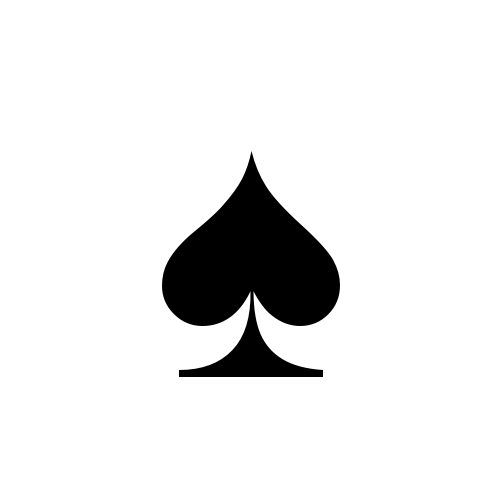 Poker Card Suit Spade Royalty Free Cliparts, Vectors, And Stock ...