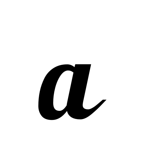 a | latin small letter a | Lobster1.1, Regular @ Graphemica