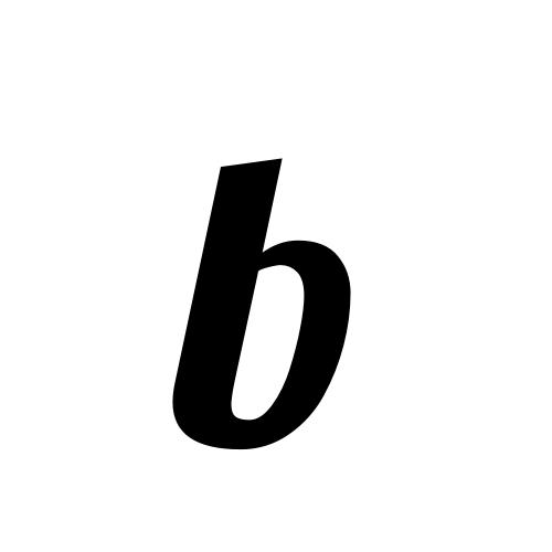 b | latin small letter b | Lobster1.1, Regular @ Graphemica