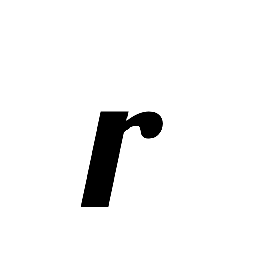 r | latin small letter r | Lobster1.1, Regular @ Graphemica