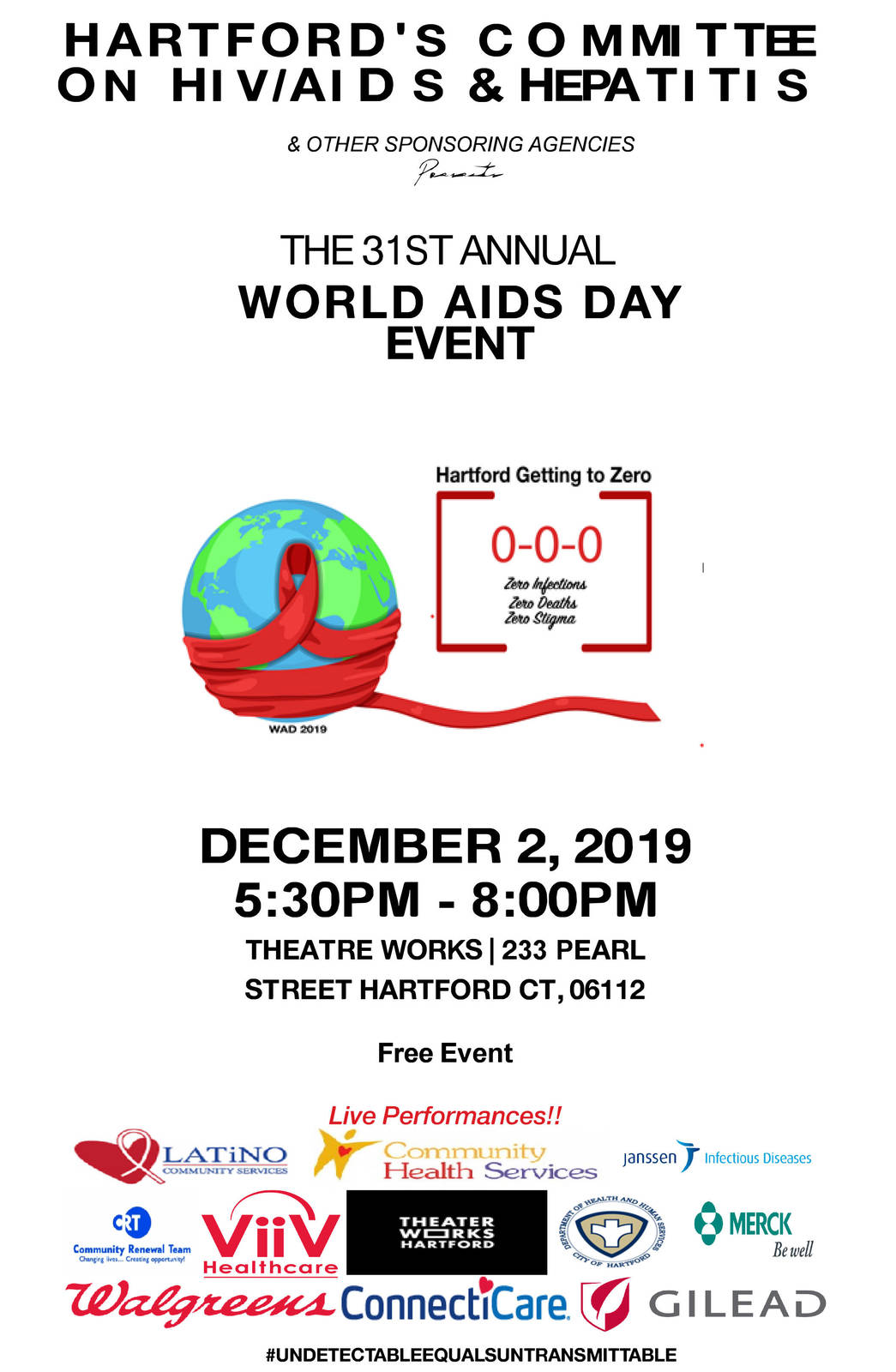 31st Annual World AIDS Day Event in Hartford CT