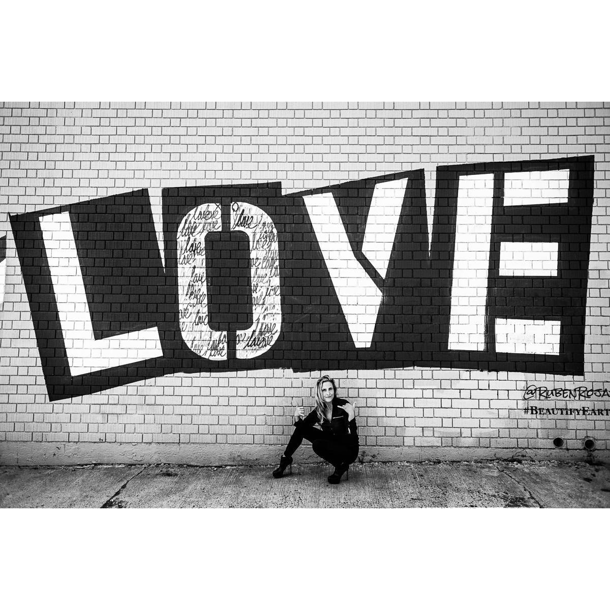 @willleferve took the picture. @rubenrojas did the street art.
