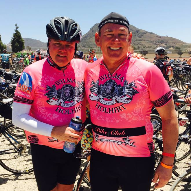 Riding to Remember: Two Husbands Cycle for the Friends They Lost in the Fight