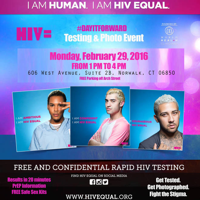 HIV Equal #DAYITFORWARD Testing/Photo Event, 2/29