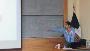 """Charla """"Debilidades y dificultades en la enseñanza del eje datos y azar"""" de Sebastián Gatica."""