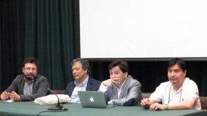 Autoridades SOCHIEM, UMA y del programa de Doctorado en Matemática del consorcio PUCV-UTFSM-UV en Inauguración de SUMA 2016.