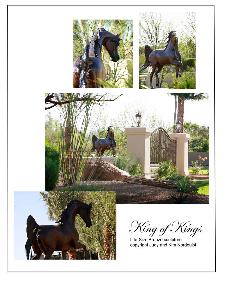 King of Kings bronze at Sahara Scottsdale.