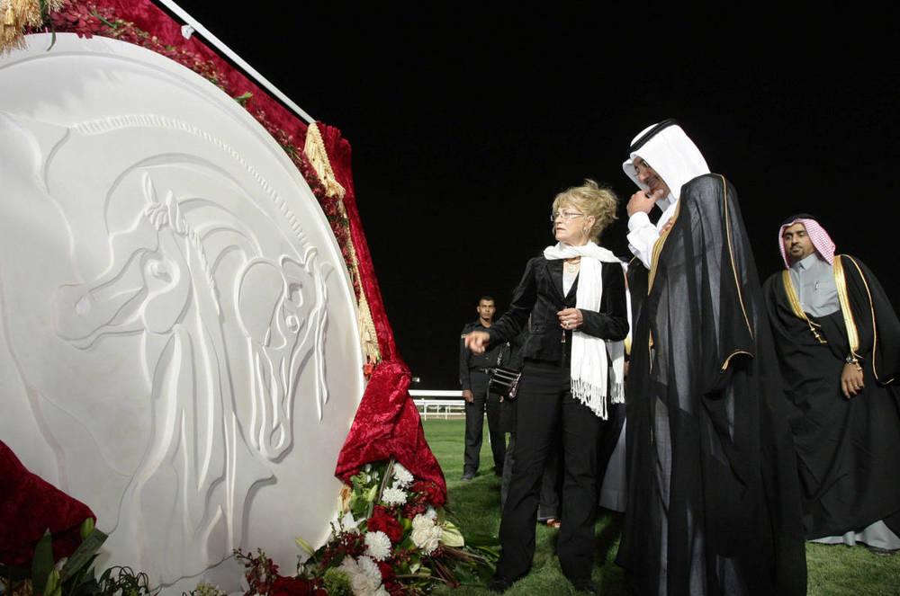 HH Sheikh Abdullah  Bin Khalifa Al Thani -    unveiling logo for Qatar Race and Equestrian Club
