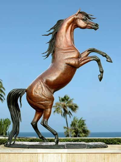 Stallion Of The Sun   Life-size Bronze