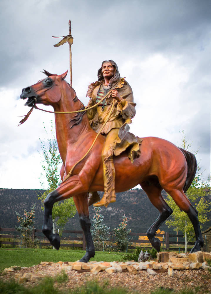 Monumental 1-1/5 Life-Size Bronze was unveiled   --  Mountain Village, Tellluride, Colorado Mountain Village, Telluride, Colorado