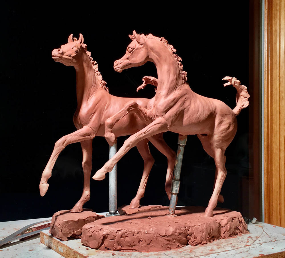 Scale Model for Proposed Life-size bronze