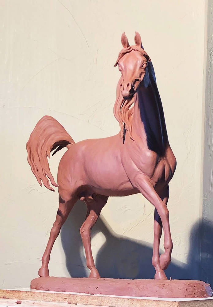 "Original clay sculpture. ""The clay of Turismo is truly amazing and spot