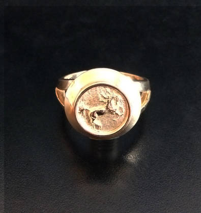 """Born Free"" Gold Ring"