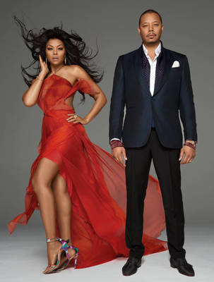Taraji P Henson and Terence Howard - Emmy Magazine