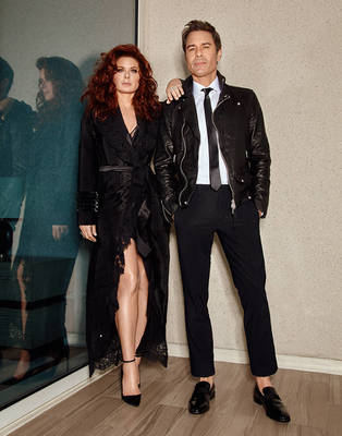 Debra Messing, Eric McCormack, Sean Hayes, Megan Mullally for Emmy Magazine