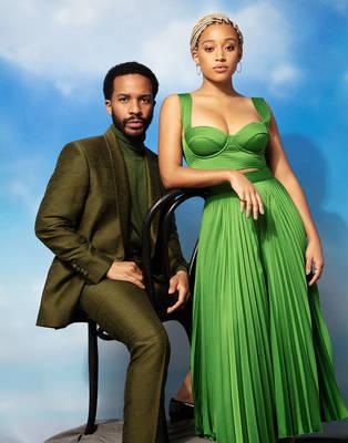 Andre Holland and Amandla Stenberg - Emmy Magazine