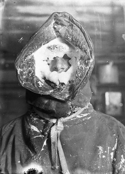 Australian Ice Mask by Frank Hurley