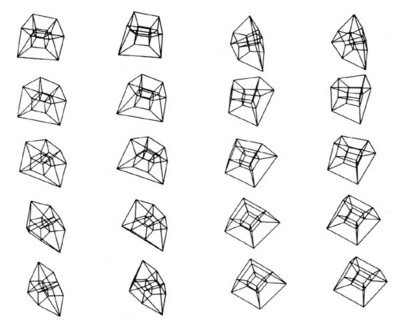 3-Dimensional Projection of a Rotating 4-Dimensional Hypercube