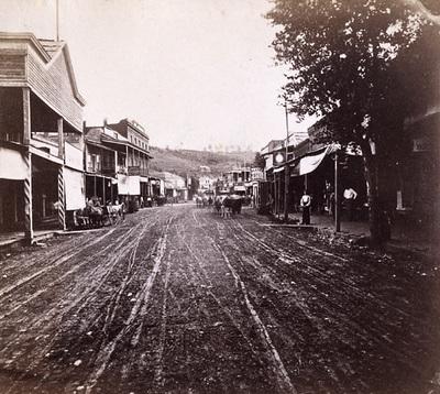 Main Street, Placerville, El Dorado County circa 1860