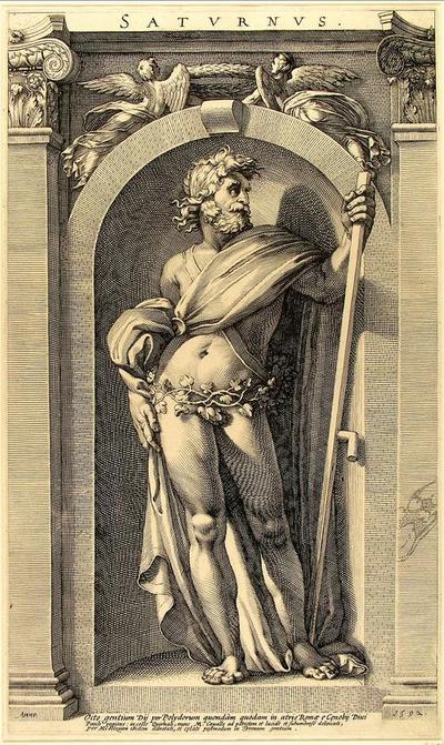 Saturnus, in an Alcove