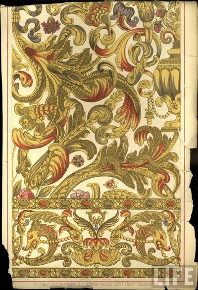 Specimen of Ornamented Gilt Leather