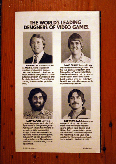 The World's Leading Designers of Video Games