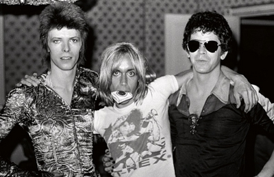 David Bowie, Iggy Pop, and Lou Reed - London, 1972