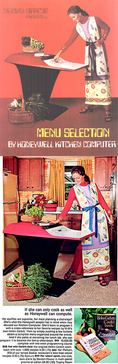 The 1969 Kitchen Computer, By Honeywell For Neiman-Marcus