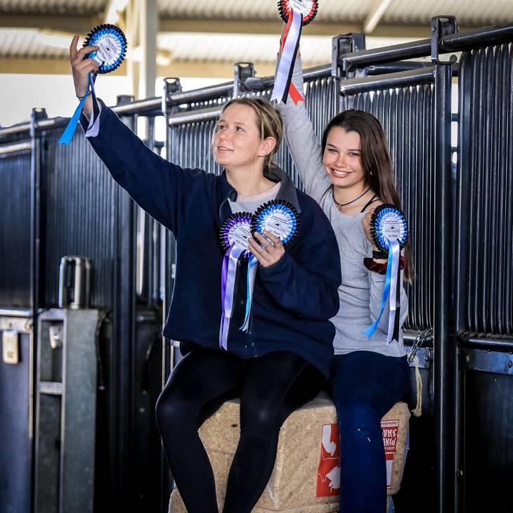 Performance grooms Lena Seiler & Tahlia Coleiro.  2019 NSW Dressage Championships