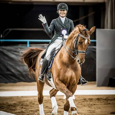 LUXOR 118 (DE) - with Kate Farrell.  Photographed by Stephen Mowbray. © Stephen Mowbray, 2019.   2019 NSW Dressage Championships