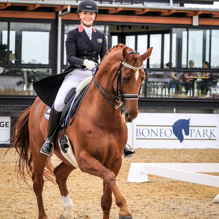 LUXOR 118 (DE) with Katharine Farrell at the 2019 Boneo Park Spring CDI
