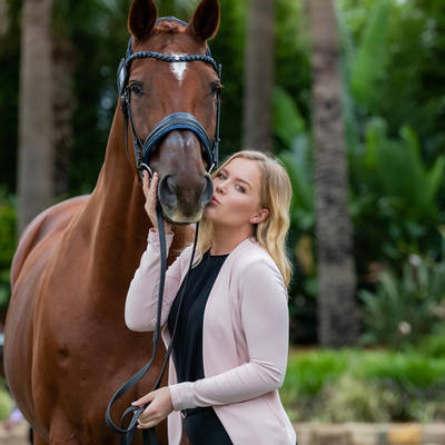 Luxor 118, Kate Farrell.  Willinga Park Dressage by the sea 2020.  Photograph © Simon Scully, 2020