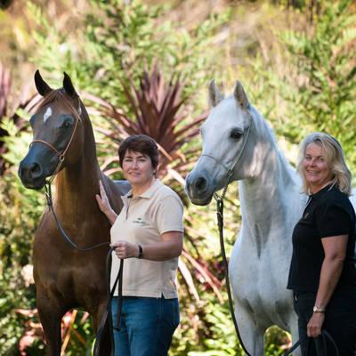 Jane with MULAWA KARISMAA & Julie with KARMAA
